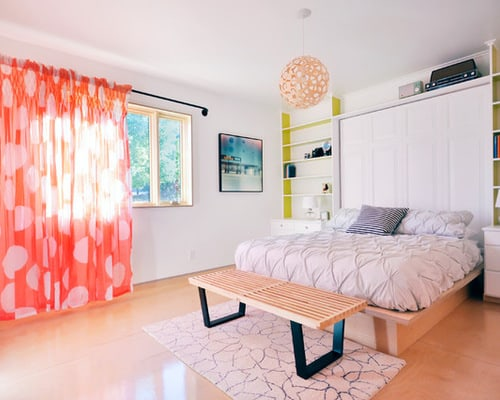 Creative-orange-curtain-master-bedroom-decor-ideas
