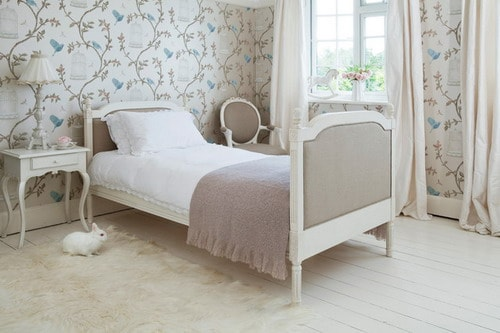 Provencal-Upholstered-French-Bed-Twin-Single-traditional-bedroom-decorating-ideas