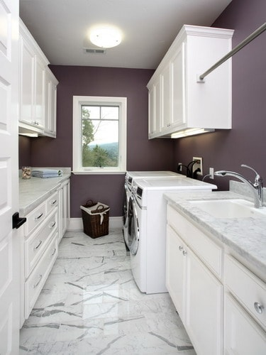 Purple-Wall-Paint-Colors-Los-Altos-Traditional-Laundry-Room-san-francisco-by-Precision-Cabinets