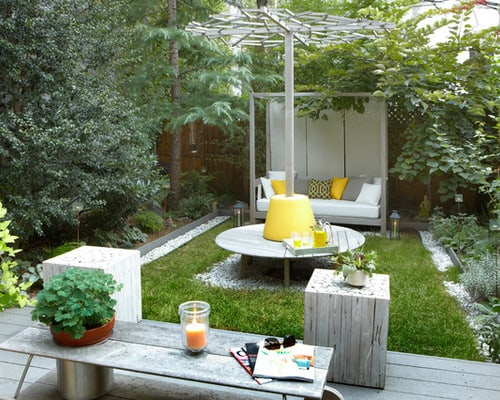 Small-Backyard-Furniture-contemporary-landscape-ideas