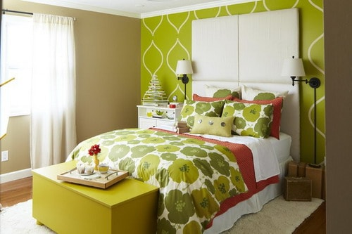Small-Bedroom-Retreat-green-decorating-contemporary-bedroom-ideas