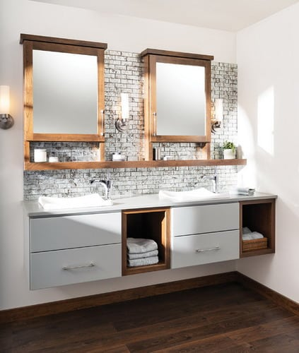 Some Great Ideas for Floating Bathroom Vanity Plans