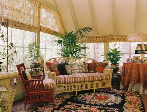 Traditional-Sunroom-Painted-Wicker-Furniture-Home-Design-Photos