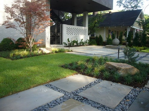 Front yard landscaping ideas convert bland garden into for Contemporary backyard landscaping ideas