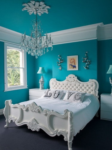 Blue And White Bedroom Wall Color Schemes Ideas Home
