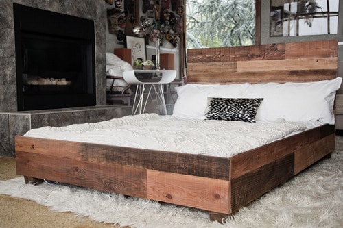 Custom-Reclaimed-Barn-Wood-Platform-Industrial-Bed-modern-platform-beds-ideas