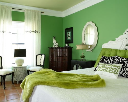 Green-wall-paint-color-schemes-small-bedroom-decor-designs