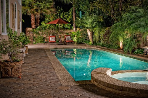 Beautiful landscaping small backyards with pools home for Pool and backyard design