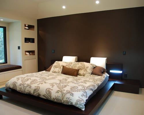 modern brown bedroom ideas how to decorate your bedroom with brown accent wall home 16334