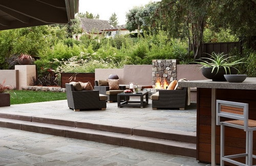 Green Outdoor Living Area
