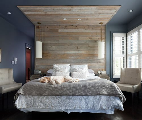 Shooting Blue Transitional Small Bedroom Wall Paint Color Combinations