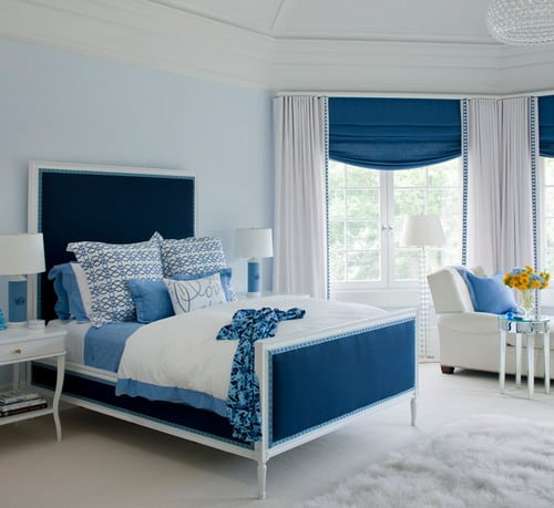 Blue and White Bedroom Wall Color Schemes Ideas - Home Decor ...