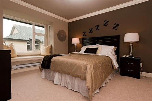 How To Decorate Your Bedroom With Brown Accent Wall Home Decor Help - Light brown paint color bedroom