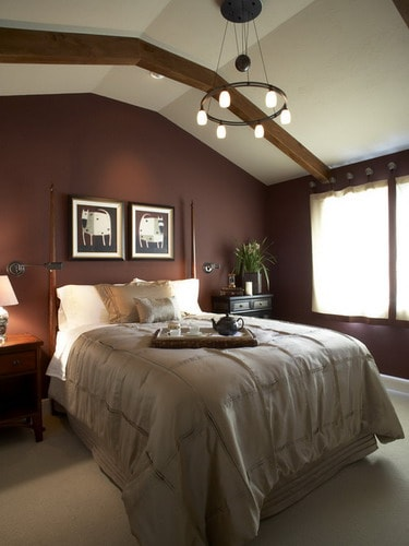 how to decorate your bedroom with brown accent wall home 19170 | traditional small master bedroom wall colors brown wall paint accent wall ideas