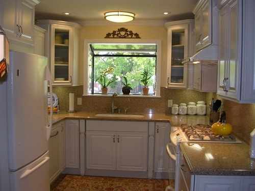 small u shaped kitchen white cabinets useful tips to decorate small u shaped kitchen home 26407