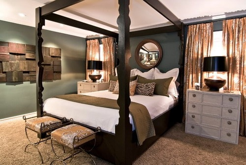 Wooden-canopy-bed-frame-eco-friendly-traditional-bedroom-furniture