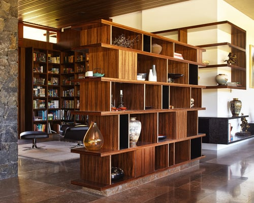 Asian-Hall-Bookcase-Room-Divider-Open-Floor-Home-Design-Photos