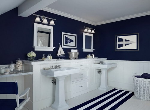 Easy Tips to Help You Decorating Navy Blue Bathroom