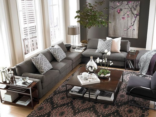 l shaped living room dining room furniture layout l shaped living room and dining room decorating ideas 28037