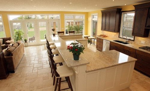open kitchen floor plans with islands the most popular kitchen island shapes home decor help 27347