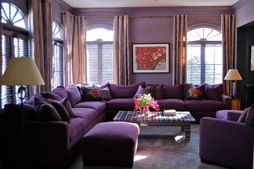 Useful tips to choose the right living room color schemes home decor help Purple living room color schemes