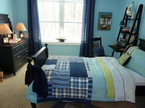 Sea-Blue-Wall-Colors-Nautical-Themed-Long-Meadow-Cottage-Boys-Room-Decor-Ideas