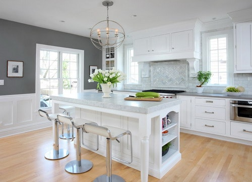 Grey And White Kitchen Design Ideas ~ Amazing cabinet ideas for white kitchen designs home