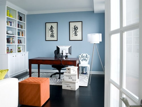 How to choose the best home office color schemes home decor help Home office design color ideas