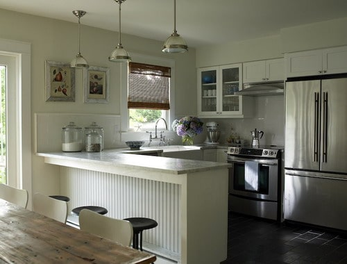 10 Steps Trimming Kitchen Peninsulas With Beadboard Home