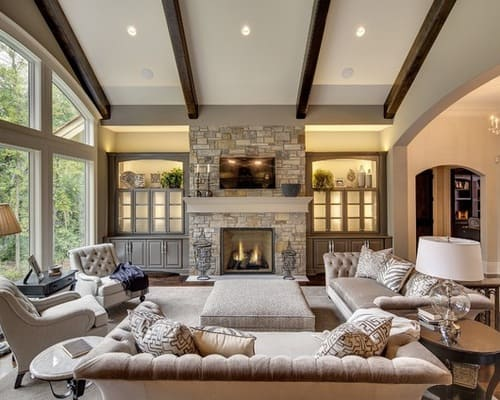 Ceiling-lights-semi-formal-transitional-living-room-with-fireplace-ideas