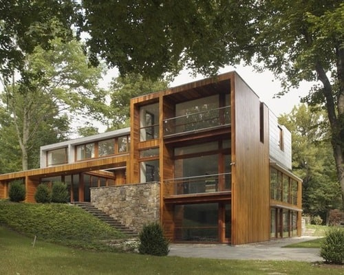 Eco-green-environmental-friendly-split-level-modern-home-exterior-designs