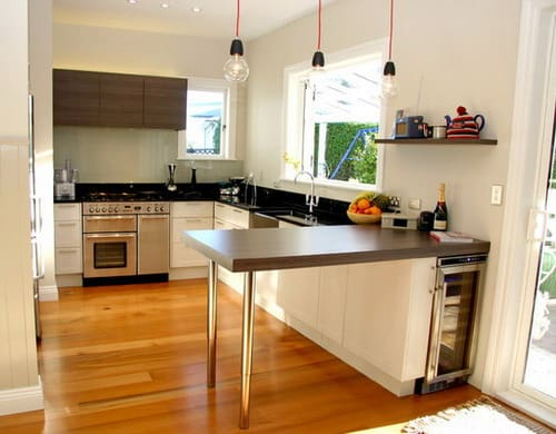 kitchen design space modern small kitchen design with cherry wood cabinets 425