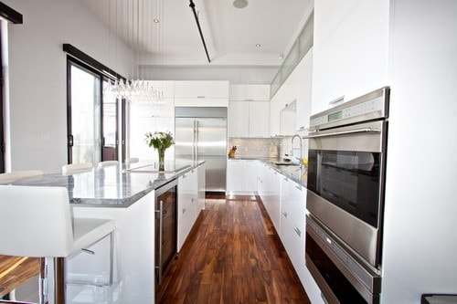 White-Lacquer-Kitchen-Modern-Galley-Kitchens-Ideas