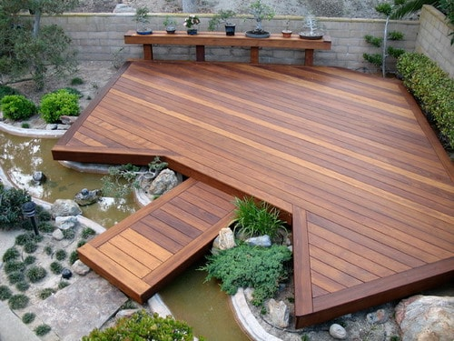 wooden deck floor