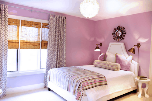Sweet-lavender-pink-girls-bedroom-with-lavender-pink-walls-paint-color-ideas