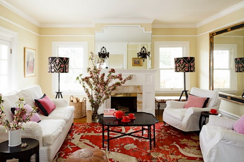 West Hills Victorian traditional living room home interior decor ideas