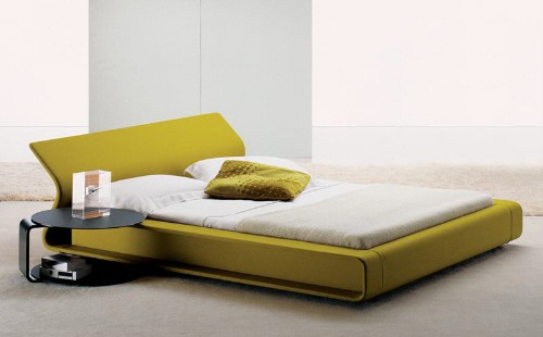 exotic-yellow-low-modern-platform-beds-minimalist-bedroom-furniture-ideas