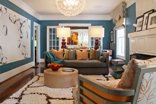 lucy-and-company-white-and-blue-wall-color-schemes-eclectic-living-room-ideas