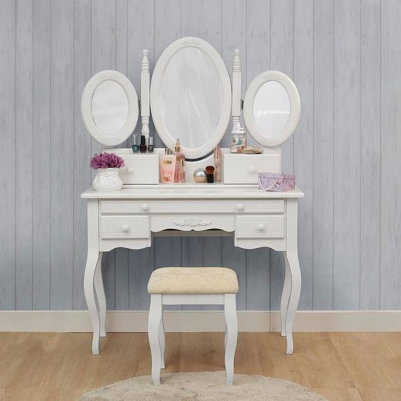 butterfly teak dressing table