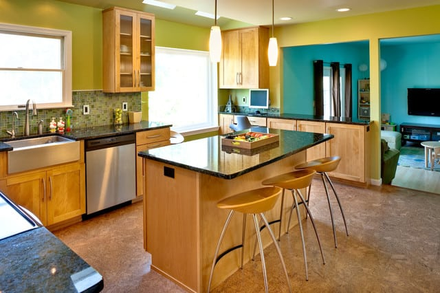 green-wall-colors-transitional-kitchen-by-studio26-homes