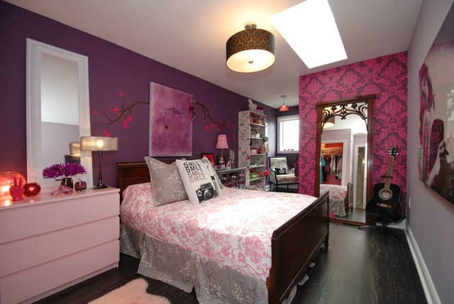 young-women-bedroom-transitional-girls-room-purple-themed-decor