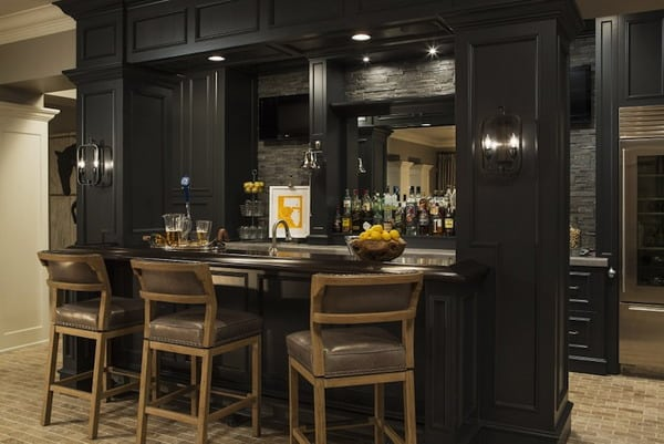 basements-black-bar-stools-design-ideas
