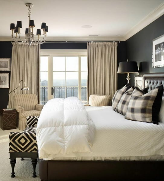 black-walls-make-the-bedroom-appear-male