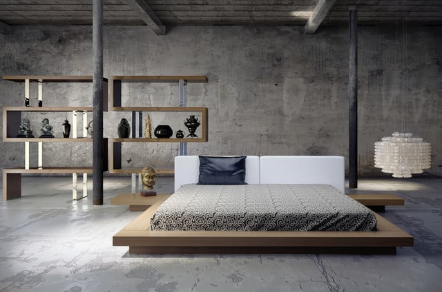 Modern Low Profile Bed
