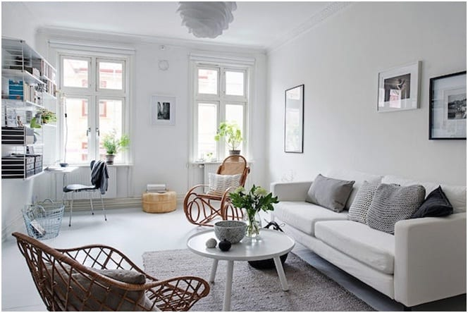 Clean and tidy Nordic decoration