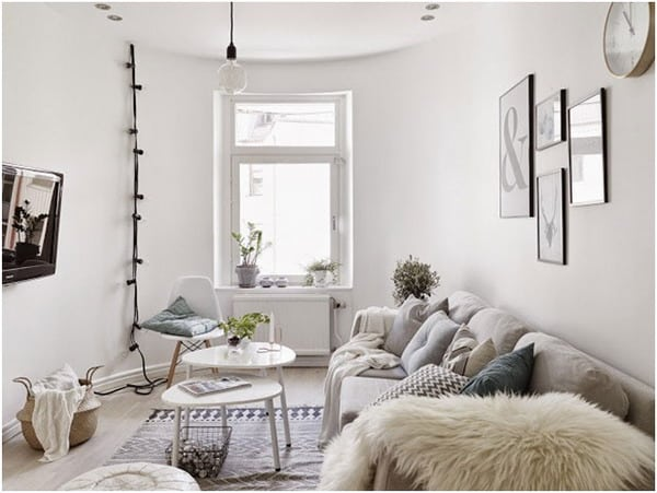 Nordic style small living room decor