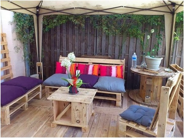 Low budget chillout terrace