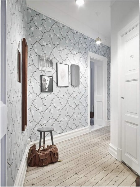 wallpaper corridor wall decor ideas