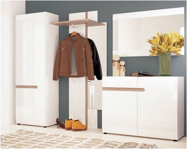 white modern furniture for corridor