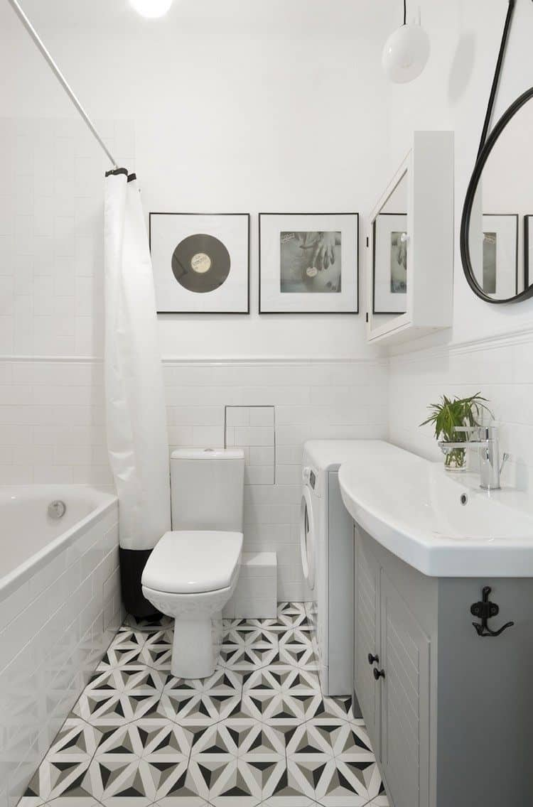 Small Scandinavian Bathroom Design 1